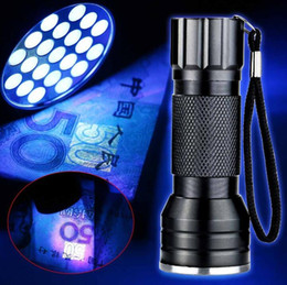$enCountryForm.capitalKeyWord Australia - NEW Purple 395nm 21 LED UV Ultra Violet Flashlight Torch Light Lamp Mini UV Flash Light for Blacklight Invisible Mini Aluminum alloy lamp