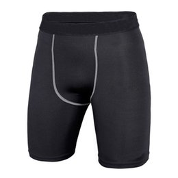 Men Compression Shorts Australia - Quick Dry Men Base Layer Cycle Tight Skin Compression Solid Shorts