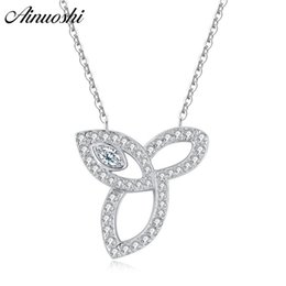 Sterling Silver Chains Women Australia - Ainuoshi Luxury 925 Sterling Silver Pendant Necklace For Women Leaves Long Chain Necklace Wedding Silver Jewelry Collar De Plata Y19050901
