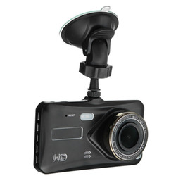 China 1080P full HD car DVR camera touch screen car camcorder 2Ch driving dashcam 4 inches 170° WDR night vision G-sensor parking monitor cheap touch screen car display suppliers