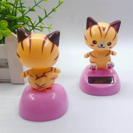 cartoon for dance toy NZ - Solar Powered Swing Monkey Dancing Shaking Head Cartoon Animal Doll Toys Cute Cat for Children Gift