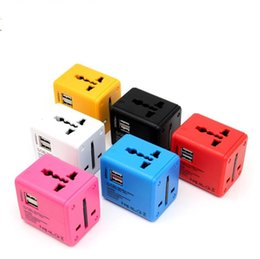 $enCountryForm.capitalKeyWord NZ - Dual usb Electric Plug power Socket Adaptor International Travel Adapter All-in-one Power Universal Adapter Wall Charger EU UK US AU