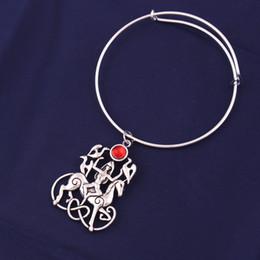 $enCountryForm.capitalKeyWord Australia - Antique Silver Goddess with Three Bird and Horse Charm Colourful Crystal Animal Amulet Religious Bangle Bracelet