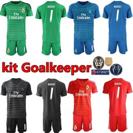 40334f1dd Real Madrid Goalkeeper GK La Liga 1 Keylor Navas Jersey Set Soccer 1 Iker  Casillas 13 Casilla Thibaut Courtois Football Shirt Kits Uniform