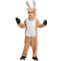elk clothes Australia - Chrismas Costume Children's Clothes Halloween Cos Animals Playing the Elk Christmas Clothes Reindeer Children's Performance clothing