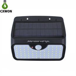 Garden work online shopping - 64LEDs Solar Lamp lm Waterproof Solar Home Light With Working Modes Garden Solar Sensor Wall Light