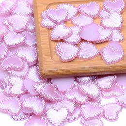 Shape Arts Australia - 1000pcs 14mm Heart Shape Flatback Half Pearls Rhinestone For Nail Art Cellphone DIY Jewelry Crafts Decorations