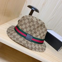 76f53399 Bucket summer hat online shopping - G Letter Visors Brand Striped Summer  Beach Sun Hats Outdoor