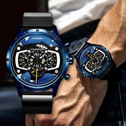 Men Sports Racing Watch Australia - 2019 New Creative Car Design Men's Watch Fashion Speed Racing Sports Chronograph Quartz Watches Men Male Big Dial Travel Clock