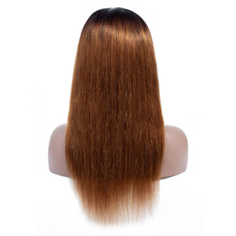 China 150% Density 1B 30 Ombre 4x4 Lace Closure Human Hair Wigs Straight Ombre Pre Plucked Lace Front Wig Brazilian Virgin Hair cheap front closure lace wig suppliers