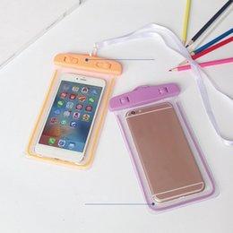 $enCountryForm.capitalKeyWord Australia - PVC Diving Waterproof Bag 8 Designs Cell Phone Water Proof Dry Bag 10.8*17.5CM Transparent Protective Cellphone Bag 200 Pieces DHL