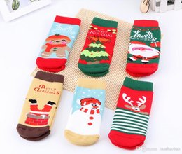 Cashmere Socks Knee Australia - 2009 18 New Winter Thickened Children's Towel Socks, Baby Gift Socks, 3 pairs of Christmas Terry Socks