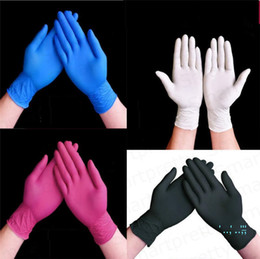 Wholesale 100pcs box Disposable Nitrile Latex Gloves Anti-static Anti-skid Anti-acid Protective Gloves Unisex Barbershop Kitchen Rubber Gloves E33102