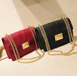Locking Fashion Chains Australia - Women's bag 2019 Europe and the new fashion lock buckle Messenger chain bag Korean version of the chain ladies shoulder small square bag
