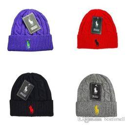 d93066bfac5f0c Winter Beanie Men Women Brand Designer Luxury Knitted Fashion Ski Beanies  Polo Knitting Hip Hop Hats Gorros Skull Caps Sports Online Sale