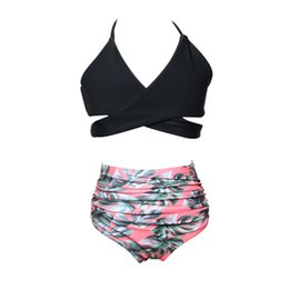 $enCountryForm.capitalKeyWord Australia - 2018 Summer Infant Baby Girl Swimwear Swimsuit Biquini Print Crosss Bandage Bikini Two Pieces Swimwear Swimming Costume JU1