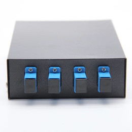 adapter terminals 2019 - FTTH Network SC 4 Ports Optic Fiber Terminal Box, include Pigtail and Fiber Optic Adapter cheap adapter terminals