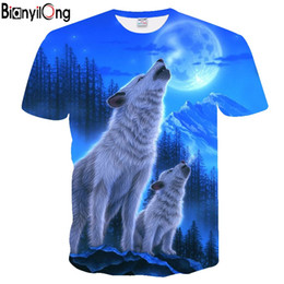 $enCountryForm.capitalKeyWord Australia - 2018 new Tshirt Men Fashion Moon Wolf Printed 3D T Shirt Casual T-shirts Man Bodybuilding Fitness Workout Tee Shirts Homme tops