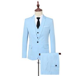 Men S Long Wedding Suit Australia - Large Size S-6XL Men Suit Jackets with Vests and Pants Fashion Business Wedding Banquet Men's Dress Suits Sets Slim and Elegant #495886
