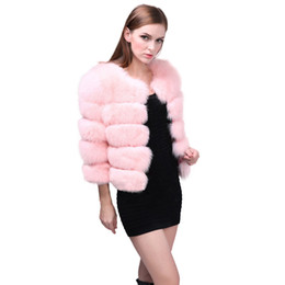 Pink Faux Fur Leather Jacket NZ - JAYCOSIN 2XL Women Winter New Fashion Pink FAUX Fur Coat Elegant Thick Warm Outerwear fur fox leather jacket short z1210
