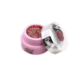 Wholesale Nail UV Gel Polish Soak Off Nail Art Topcoat Pink Diamond Color Gel Powder Super Shine Glitters Red Gold Decoration