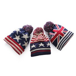$enCountryForm.capitalKeyWord Australia - Cheap usa american flag Beanie hat wool winter warm knitted caps and hats for man and women Skullies cool Beanies wholesale