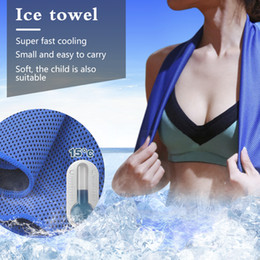 instant hair Australia - Cooling Towel Ice Towel Women Cooling Gym Jogging Enduring Running Instant Ice Cold Pad Cooling Sweat Tool Beach Towel
