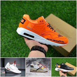 3670f56064fc0 2018 Cheap Running Shoes For Women Men Cushion just 1 Premium 87 OFF  Leather Surface White Orange do Trainers Sport Shoes it 36-45