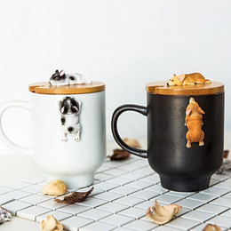 $enCountryForm.capitalKeyWord Australia - Creative Cartoon 3d Corgi French Bulldog Ceramic Mugs Cute Large Capacity Dog Cups Student Couple Mug For Friend Gift Cup Q190430