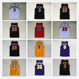 Venta al por mayor de Camiseta de baloncesto de los hombres bordados NCAA Bryant Kobe 8 jerseys Earvin Johnson 32 Allen Iverson 3 Michael 23 universitarios