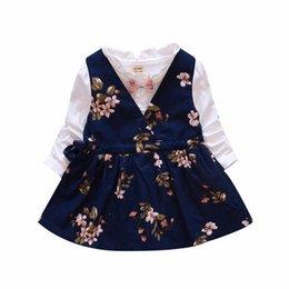 0a05d7156c09 ... New Grils Vestido de Princesa Roupas de Primavera Inglaterra Estilo de  Algodão Bowknot Flores Vestido Do Bebê Da Criança Meninas Vestidos de Manga  Longa