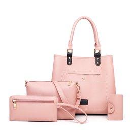 Cartoon Buy Australia - Women Bags Shoulder & Handbags Ladies High Quality Leather Composite Bag MIWIND 2019 New Buy One Get 4-piece Set bolsa feminina