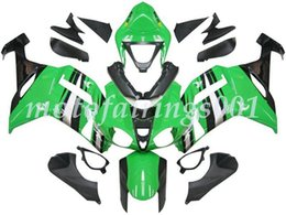 custom zx636 Australia - 4Gifts Free Custom New ABS Bodywork set Fairings kits Fit For KAWASAKI Ninja ZX-6R ZX-636 ZX636 ZX6R 2007 2008 ZX 636 Green Black Silver