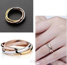 18k Gold Jewelry For Men Australia - 316L Stainless steel Lover Trinity Rings Silver and Rose Gold and 18K Gold couple band rings for women and men Top Brand Jewelry