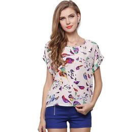 $enCountryForm.capitalKeyWord Australia - Women Blouses Shirts Chiffon Feminina Top Tee Short Shirt Woman Clothing Blusa Camisa Summer Tops Shirt Floral Fashion 19 Colors