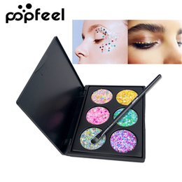 2019 New Shining Glitter Eyeshadow Sequins Cosmetics 14 Colorful Women Party Festival Face Eye Powder Makeup Eyes Shadow Blue Reliable Performance Eye Shadow