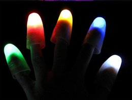 $enCountryForm.capitalKeyWord Australia - Funny Novelty Light-Up Thumbs LED Light Flashing Fingers Magic Trick Props Amazing Glow Toys Children Kids Luminous Gifts