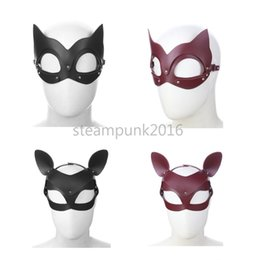 Bondage Halloween Costumes Australia - Masquerade Leather fashion Sexy Mask Costume Party Mysterious Halloween Hot #R45