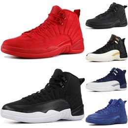 Man Classic Shoes Australia - Black Nylon 12 12s Basketball Shoes For Men 2019 New Gym Red Michigan College Navy Classic CNY PLAYOFF Designer XII Sport Sneakers Trainers
