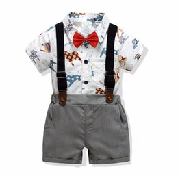 $enCountryForm.capitalKeyWord UK - New Toddler Boys Clothing Set Summer Baby Suit Shorts Shirt 1 2 3 4 Year Children Kid Clothes Suits Formal Wedding Party