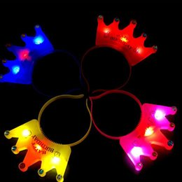 neon hair headbands Australia - Rave Festival Glow Neon Led Party Women Girls Led Flashing Crown Hair Hoop Glowing Lights Headband Glow Party Supplies