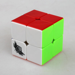 boy toy puzzle NZ - Cyclone Boys No Sticker Rubik Magic Cube 2x2x2 Stickerless speed Game Puzzle Ultra Smooth Twist toy for Kids toys Children toys & gifts box