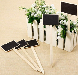Wholesale Cheap Mini Blackboards Wood Message Chalkboard for Garden Flower Tags Nursery Plant Labels Garden DIY Decoration