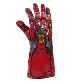 Latex Toys UK - [New]Costume party Marvel Avengers Final battle Latex Iron Man Gloves model toy Action Figure Cosplay Action Figure model gift