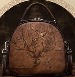 New European Hand Bag Brands Australia - free shipping European and American brand new embossed fashionable hand-carry leather retro hand-carry cross-body bag shopping bag