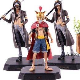 One Piece Trafalgar Figure Australia - One Piece Dressrosa Monkey D Luffy Trafalgar Law One Piece Figure Action PVC Collection Model Toys for Boys Gifts