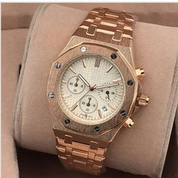 Best Christmas Gifts For Men Australia - All Subdials Work leiseure Mens or womenes Watches Steel Quartz Wristwatches Stopwatch watch Watch Top relogies for men relojes Best Gift