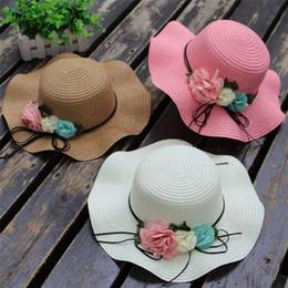 Sun hat princeSSeS online shopping - Children straw hat girl summer sunscreen hat girl Princess Sun Hats Baby Beach Hat summer sunshade caps T3H5017