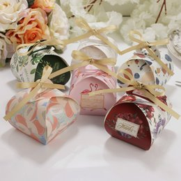 Wholesale Boxes Packaging Australia - Multicolor Wedding Favor and Gift Boxes Paper Candy Box Cake Packaging Box Gifts Bags for Baby Shower Birthday Party Supplies