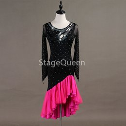 waltz costume for dancing Canada - 2019 Custom Women Professional Latin Dance Dress for woman Ballroom Dance Competition Dresses Adult Modern Waltz tango   Cha Cha Costumes
